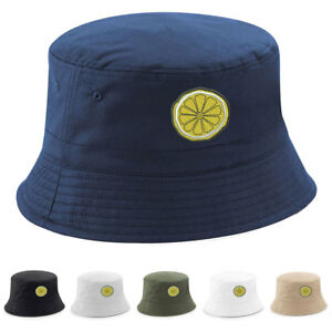 066e847e RENI LEMON BUCKET HAT Embroidered The Rose Bands Tribute Anniversary ...