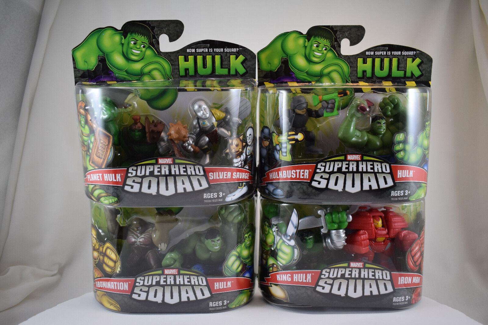 Marvel Super Hero Squad 4 2-packs  Planet Hulk Silver Savage, Abomination & MORE