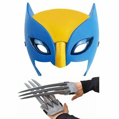 Wolf Wolverine Claws /& Wolverine Mask Cosplay Props Plastic Toys Kids Gift