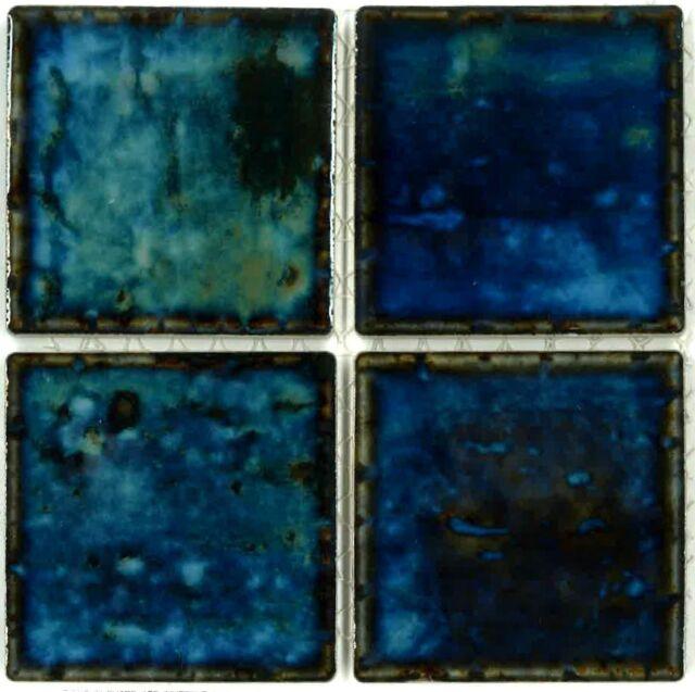Fujiwa Porcelain glazed Swimming Pool Waterline Tile STS-331 3 x 3 IN 2 SQ  FT