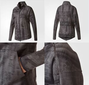 Details about Adidas Z.N.E. Pulse Cover Up Knit Jacket Women's Medium Black BR1941