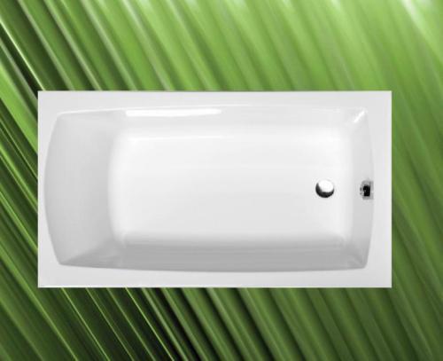 LILY Badewanne 120x70 cm komplett mit Styroporträger + Ablaufgarnitur mit Sifon