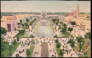 DALLAS-TX-Texas-State-Fair-Cotton-Bowl-Vtg-Aerial-View