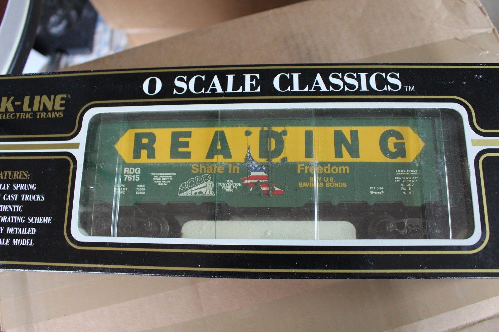 1994 K-Line K7615 Reading Classic Box Car TCA Convention Car L2772
