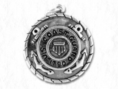 COAST GUARD Medallion Military Antiqued Pewter Traditional Charm 1pc