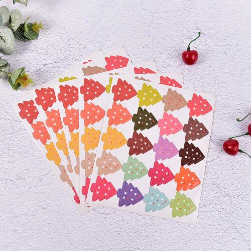 100Pcs Christmas Tree Badge Design DIY Multifunction Seal Sticker Gift Label HC