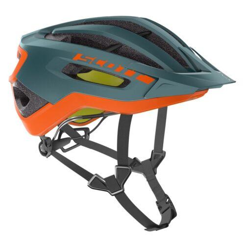 Helme & Protektoren Scott Fuga Plus XC MTB Fahrrad Helm petrol grün/orange 2019