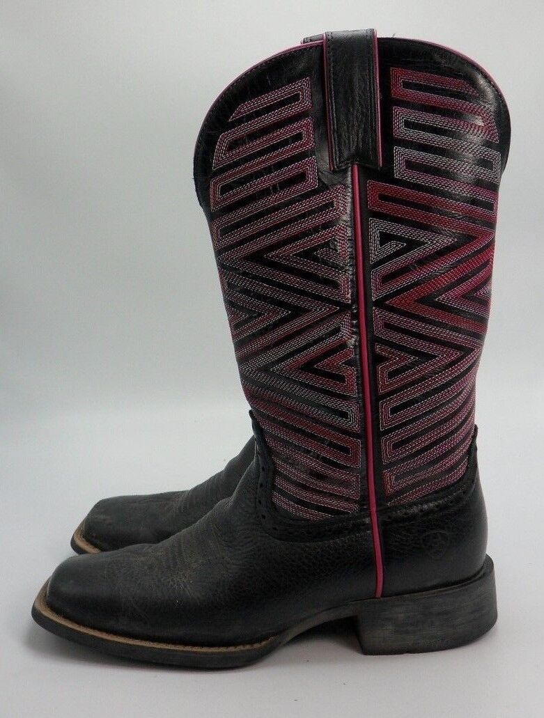 Ariat Donna SZ 6.5 B  Navajo Hot Pink Square Toe Western Boot 10017368