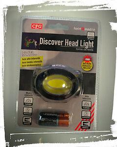 Torcia-da-Testa-Led-120Lumen-3-Livelli-di-illuminazione-CFG-Discover-Head-Light