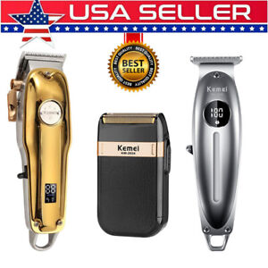 KEMEI-Hair-Clipper-Professional-Cordless-Haircut-Grooming-Beard-Barber-Shaver-US