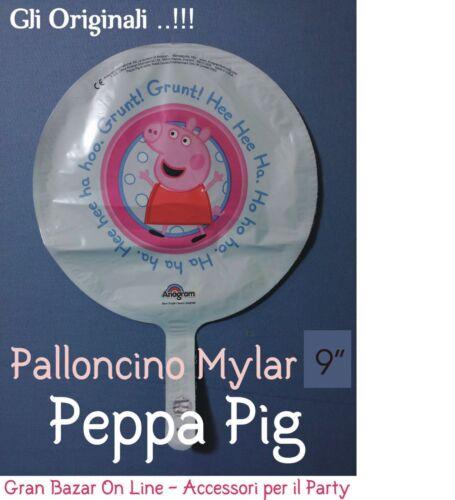 Peppa pig balloon Original 23 cm Dia Party Party Mylar Foil Animation Mini