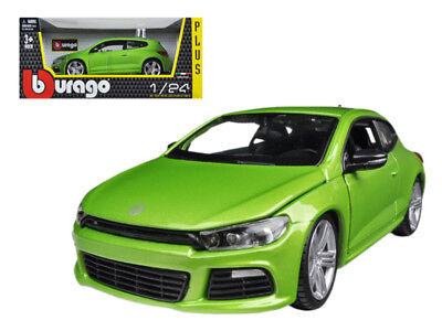 1/24 Bburago Volkswagen Scirocco R Green Diecast Model Car Green 18-21060 Diecast & Toy Vehicles