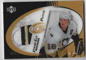 Mario-Lemieux-2004-UD-Ice-Clear-Cut-Winners-3-Color-Patch-03-25-Penguins-HOF