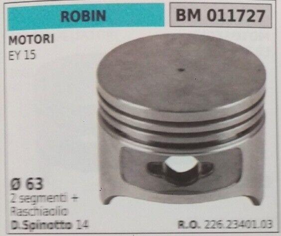 22623400103 PISTONE COMPLETO SEGMENTI E SPIN MOTORE ROBIN 4T EY15 Ø63