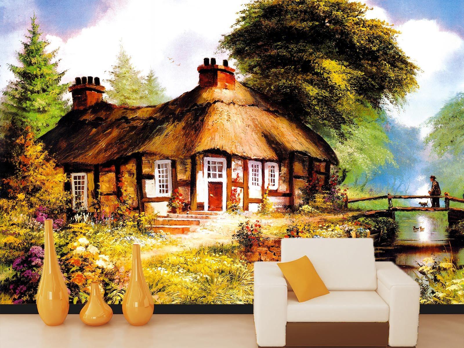 3D Landhaus Modernen Stil 76 Tapete Wandgemälde Tapete Tapeten Bild Familie DE