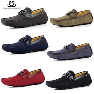 Mens Slip On Work Loafers Smart Casual