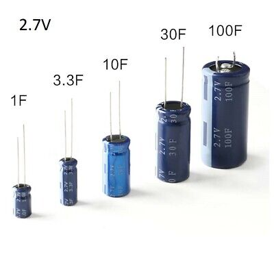 Farad//Super Capacitor 2.7V 1F 3.3F 10F 30F 100F HP-2R7 PCB Installation