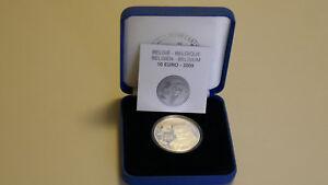 10 euros belgique argent 2009 érasme