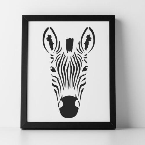 CraftStar Zebra Stencil Reusable Zebra Head Stencil 14 x 25 cm