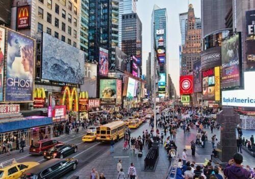 3D Times Square NY City US Full Wall Mural Photo Wallpaper Print Paper Home Deco