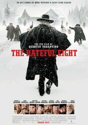 Hateful Eight Poster Quality Large FREE P+P Tarantino Movie CHOOSE YOUR SIZE