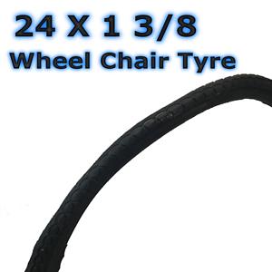 1 x Tyre 24 1 3//8 Wheel Chair Classic Bike Tyre 37-540