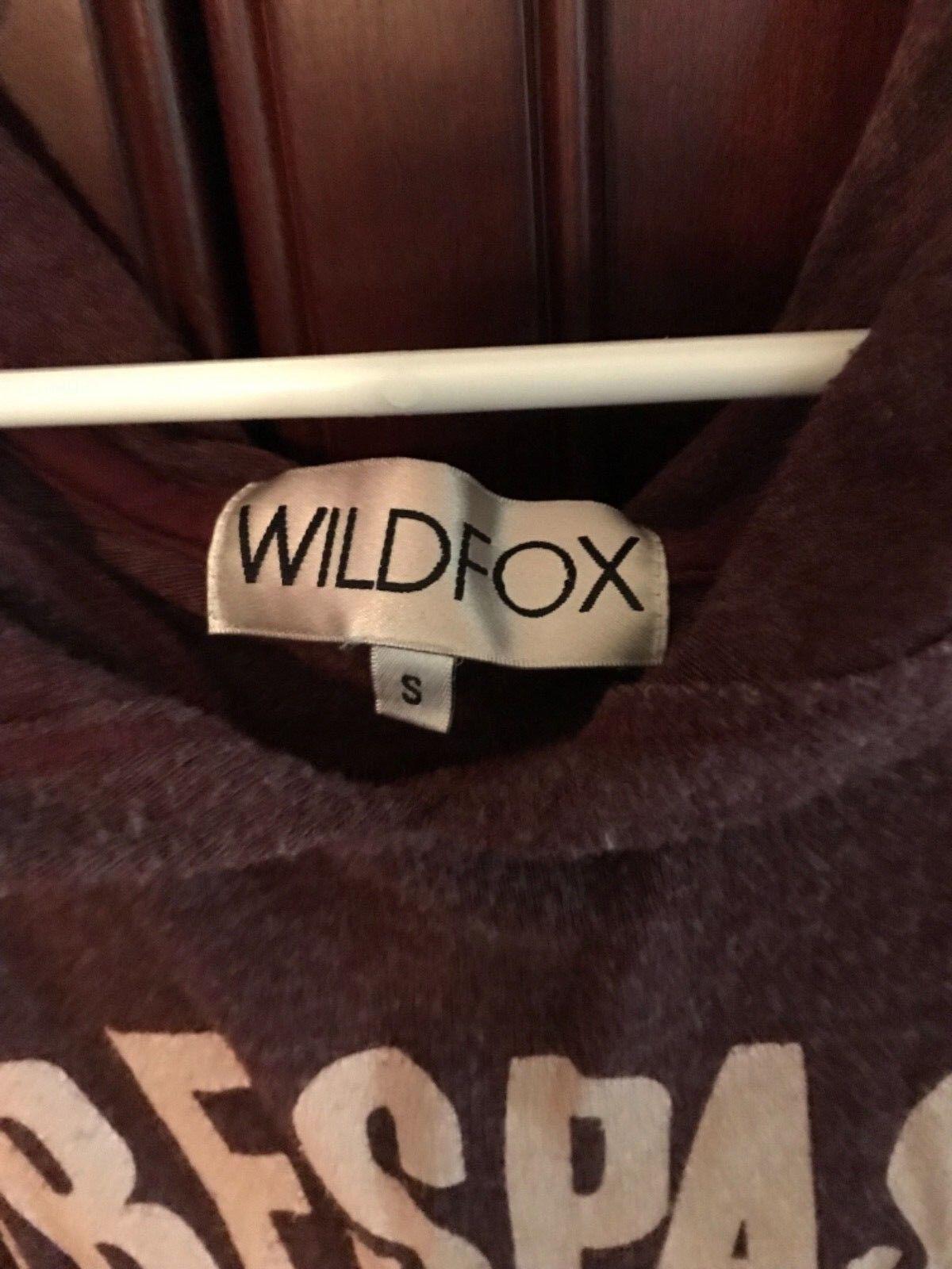 Wildfox Trespass Trespass Trespass Sweetly Urged Gypsy Hoodie Small Burgandy NWOT 86aa2e