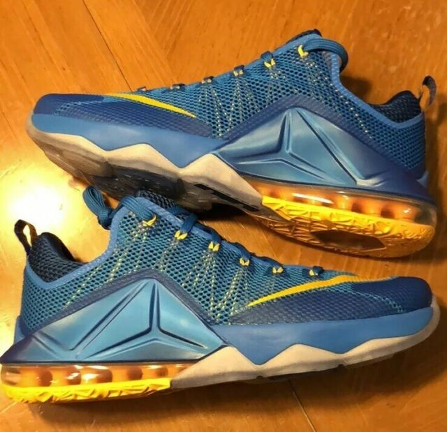 fe42a8d3fdddc Nike Lebron XII 12 Low Photo Blue/gold ENTOURAGE Mens Basketball ...
