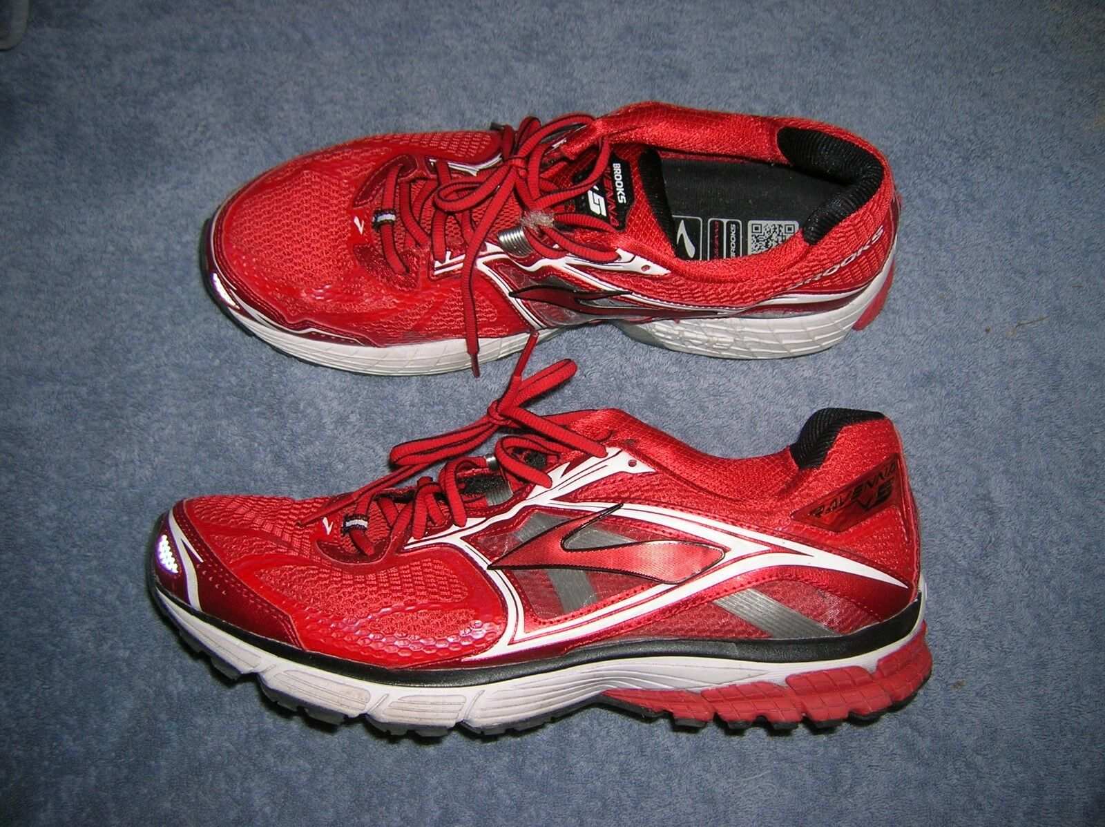 Brooks Ravenna 5 Running Sneakers shoes Mens 13 Red White Trainers Gym Work