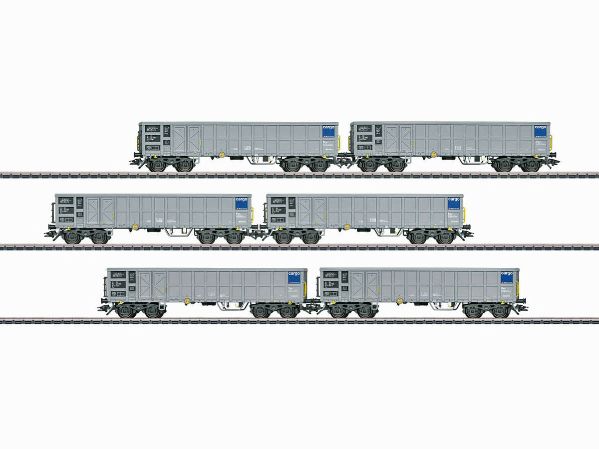 Märklin 46912 freight Wagenset High Board Wagon FAS SBB 6x h0