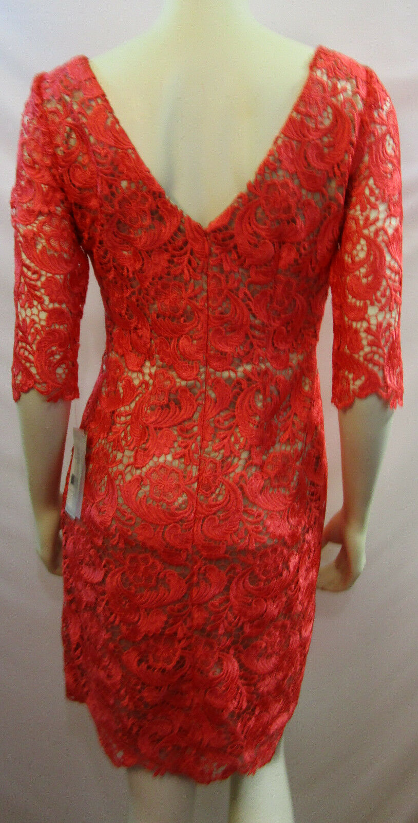 ELIZA J  CORAL LACE  SHEATH DRESS DRESS DRESS  EJ2M3696 NEW WITH TAG  SIZE 4 c3b49e