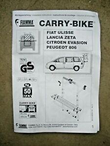 FIAMMA CARRY-BIKE Evasion, Ulysse, Zeta, 806 - 50kg - 02093-24- Fahrradträger
