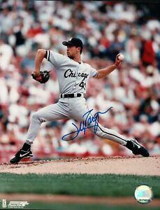 Jim-Parque-Signed-8X10-Photo-Autograph-White-Sox-Leg-On-Ground-Road-Auto-COA