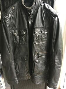 Austin Reed Leather Jacket Xl Worn Twice Ebay