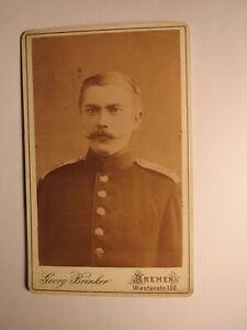 Bremen-soldat En Uniforme-régiment Ir 75/cdv-afficher Le Titre D'origine