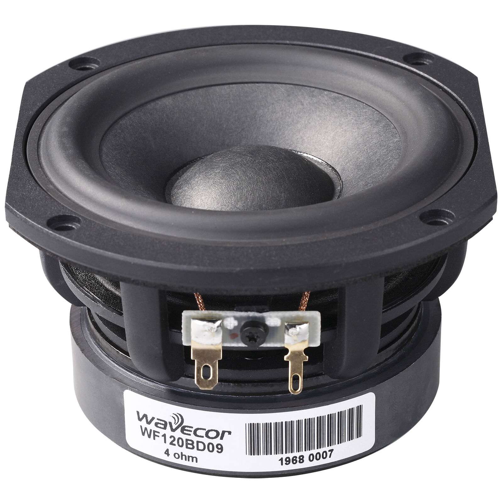 Wavecor WF120BD09 4-3 4  Balanced Drive Paper Glass Fiber Cone Mid-Woofer with T