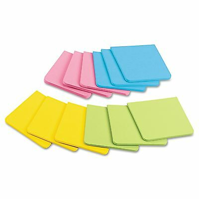 """Post It Super Sticky Full Adhesive Notes Assorted Bright Colors 3""""x3"""" 12 pk"""