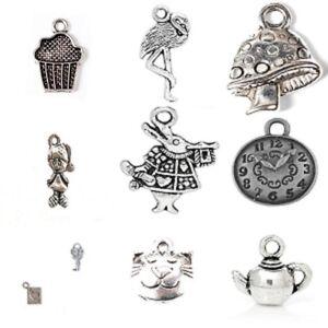 20-x-tibetano-in-argento-Misto-Ciondolo-Charms-Alice-nel-paese-delle-meraviglie