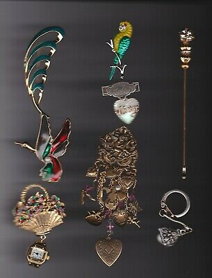 Costume Jewelry Pins Brooches Necklaces