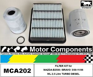MAZDA-B2500-BRAVO-WL-2-5-Litre-TURBO-DIESEL-FILTER-KIT-for-5-00-12-06