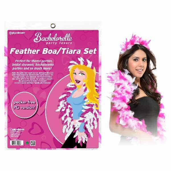 Bachelorette Party Favors Feather Boa/Tiara Set Pipedream Products