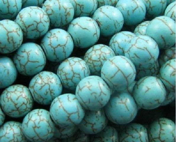 Wholesale Round Loose Turquoise Charm Spacer beads Jewelry Findings 4,6,8,10mm