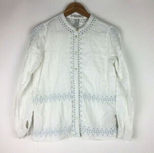 Scotch-amp-Soda-Maison-Scotch-Long-Sleeve-White-Embroidered-Shirt-Front-Button