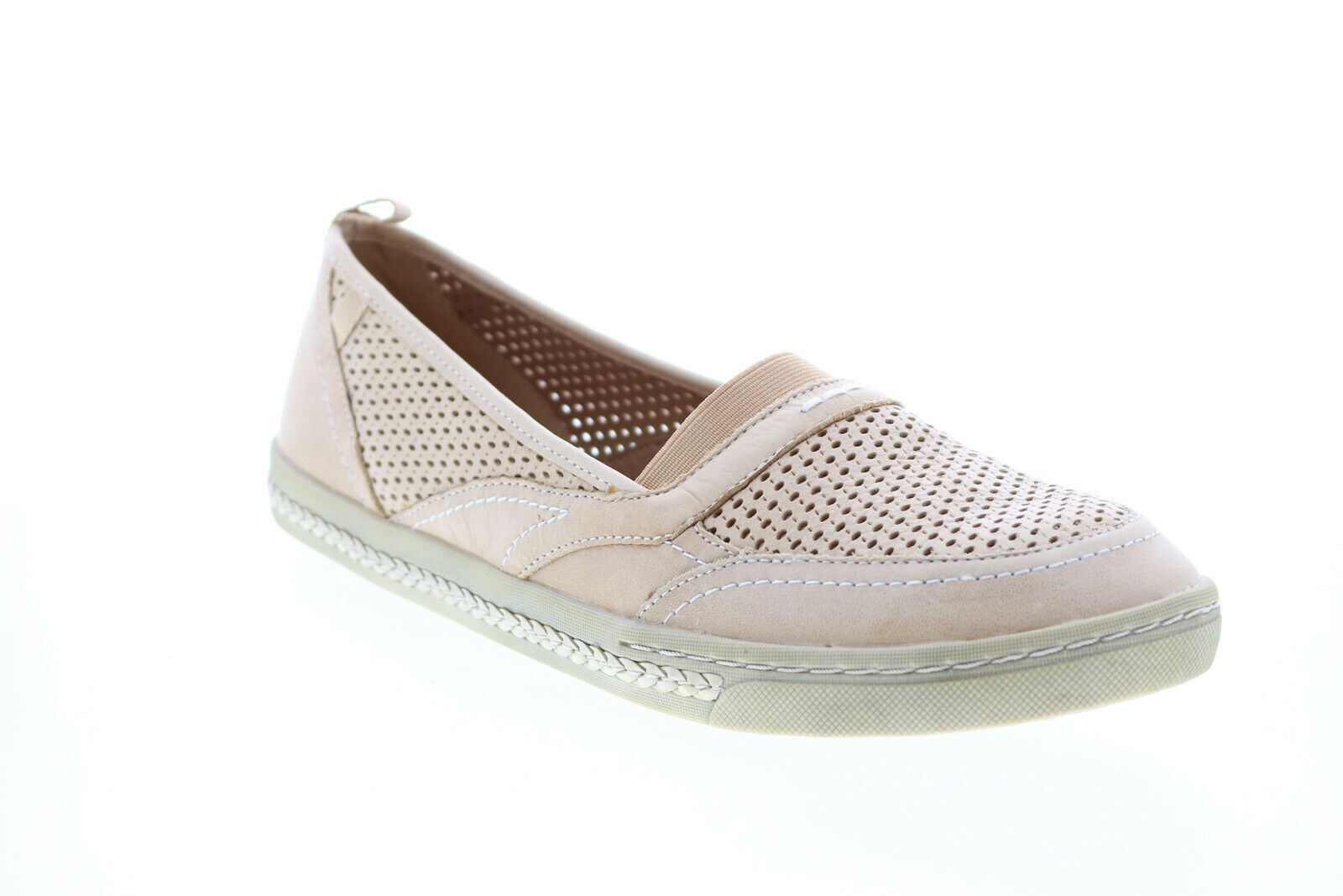 Earth Citrus Leather Womens Beige Leather Slip On Loafer Flats Shoes