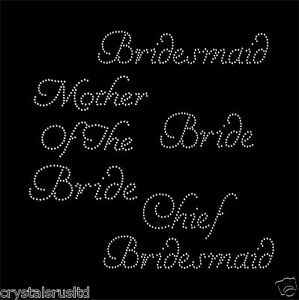 Bride-Iron-on-rhinestone-Crystal-Transfer-wedding-bridal-transfers-for-hen-party