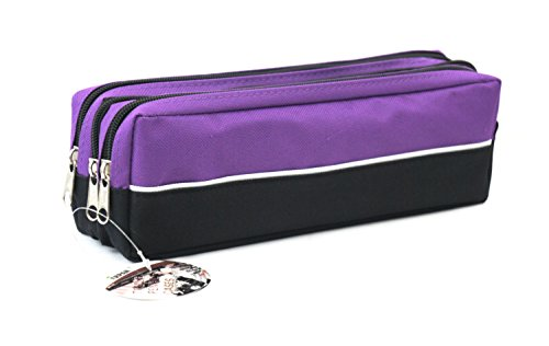School... Arpan Triple Pocket Zip Rectangular Large Fabric Pencil Case