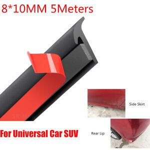 16-4ft-5M-Sealing-Strip-Weatherstrip-Waterproof-For-Car-Bumper-Side-Skirt-Fender
