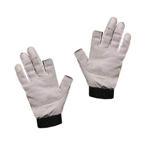 2 Finger frei Bekleidung Bootsport Blueport Segelhandschuhe aus Leder Handschuhe Segeln robust