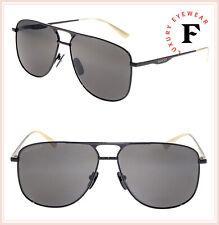 7f24645fee GUCCI 0336 Black Gold Square Unisex Metal POLARIZED Sunglasses GG0336S Men