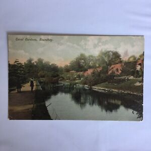 Canal-Gardens-Roundhay-Park-Leads-Britain-Postmark-Tong-1906-Posted-Postcard